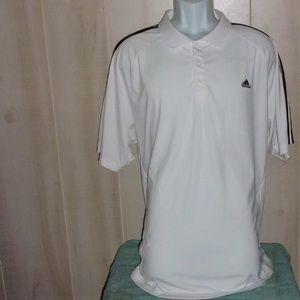 Adidas Men's White Clima Cool Golf Polo